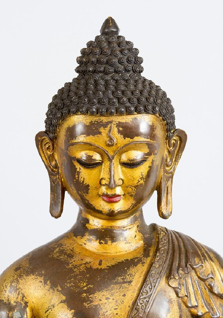 Large Indochinese Bronze Buddha - 3