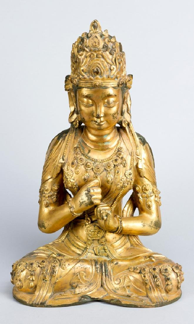 Late Ming bronze sculpture of Guanyin - 2