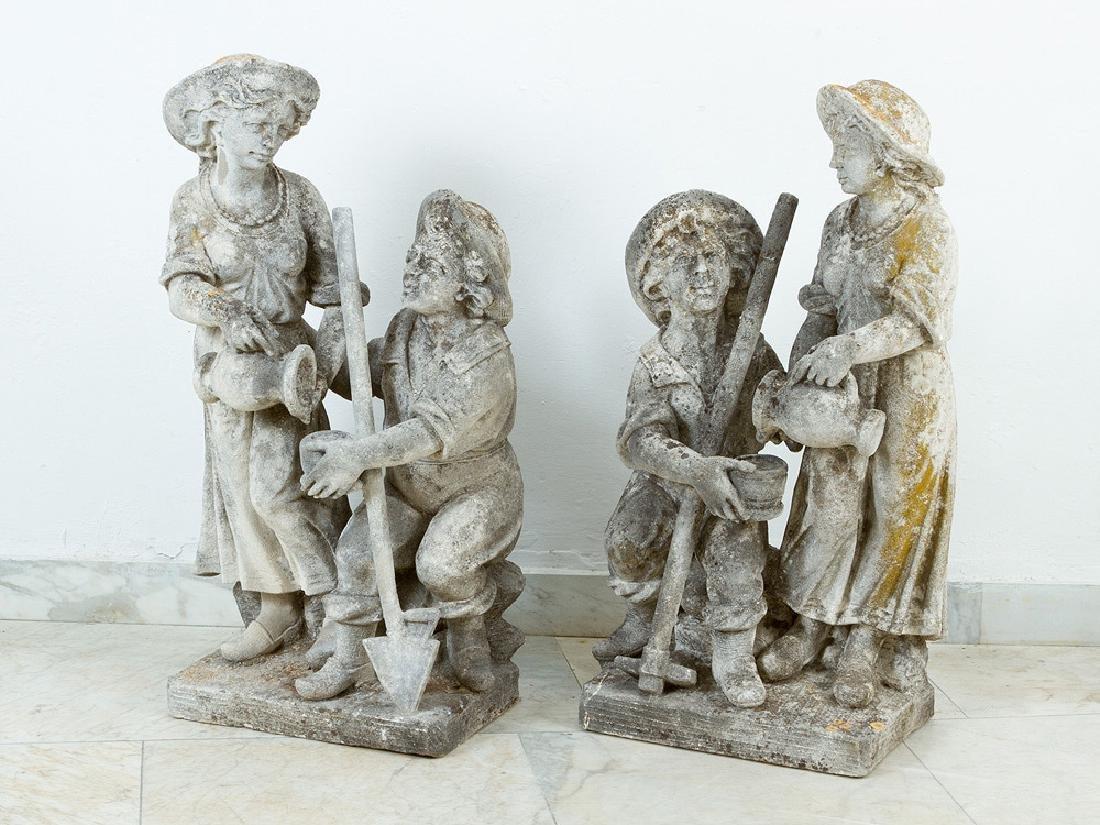 Pair of North Italian Garden Sculptures