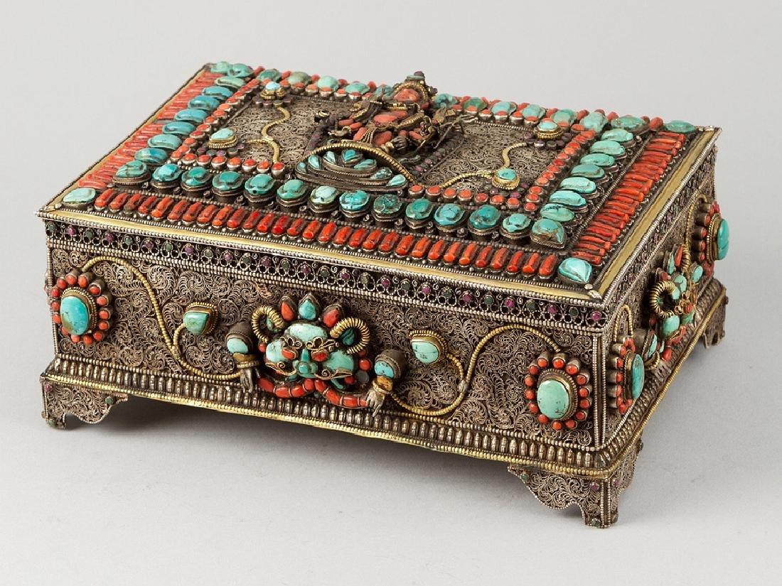 Tibetan Jewelry Casket