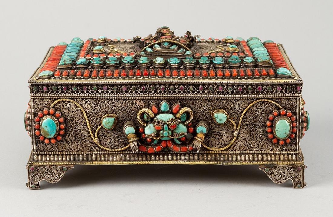 Tibetan Jewelry Casket - 2