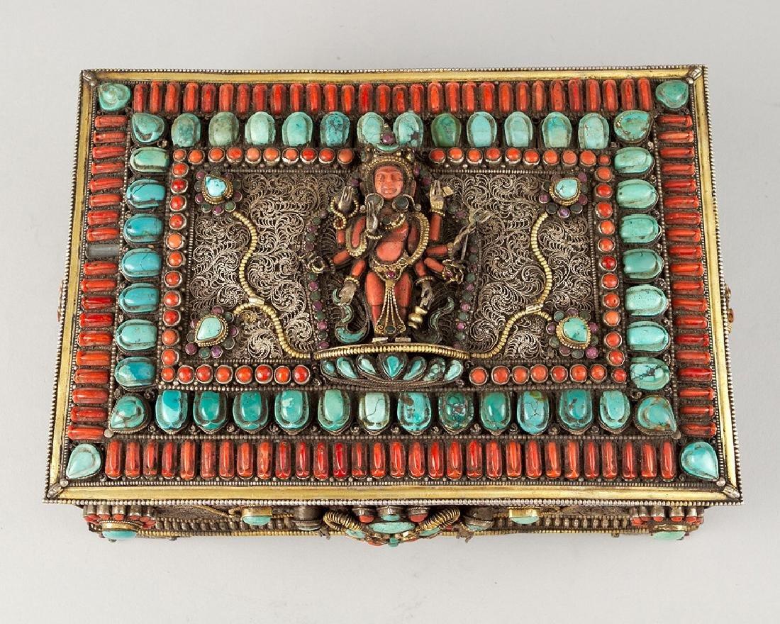 Tibetan Jewelry Casket - 3