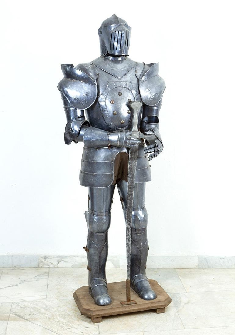 A knights Armour in medieval style