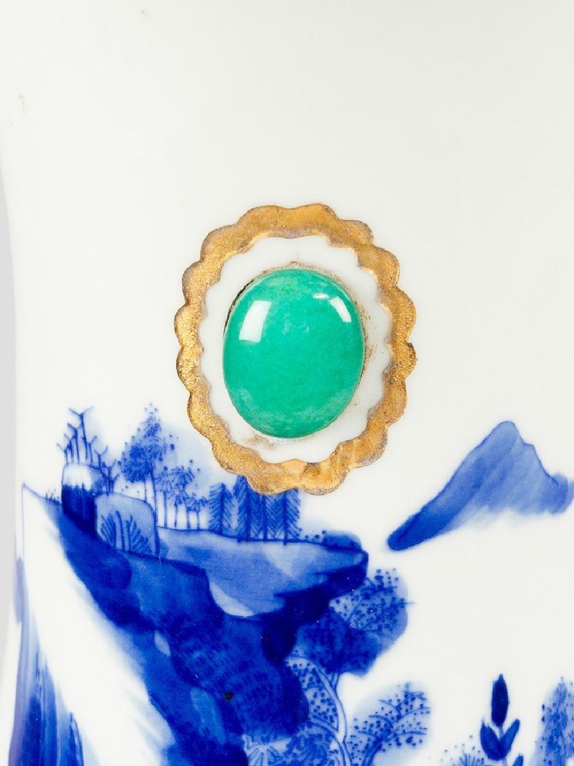 Rare Chinese Blue and White Porcelain Vase - 3
