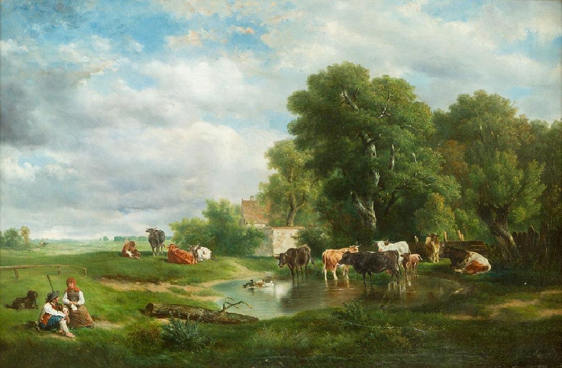 Johann Friedrich Voltz (1817 -1886)-attributed - 2