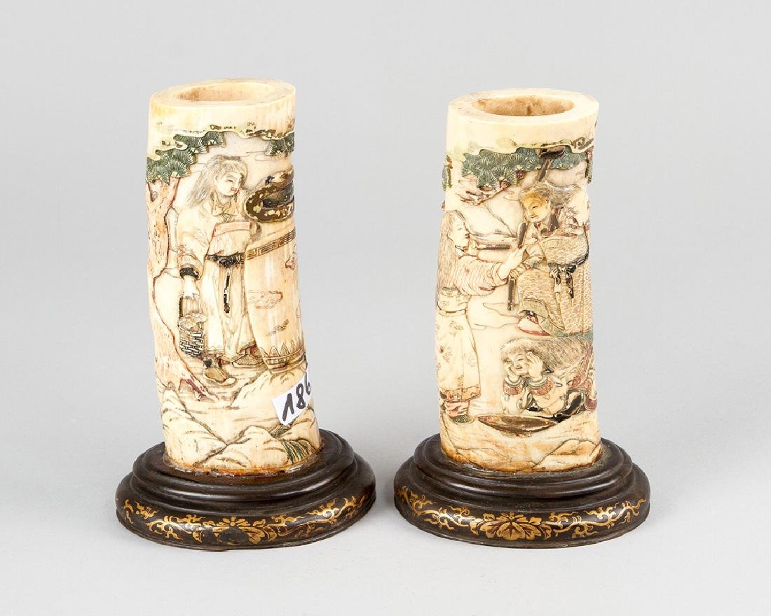 Pair of Asian Carving