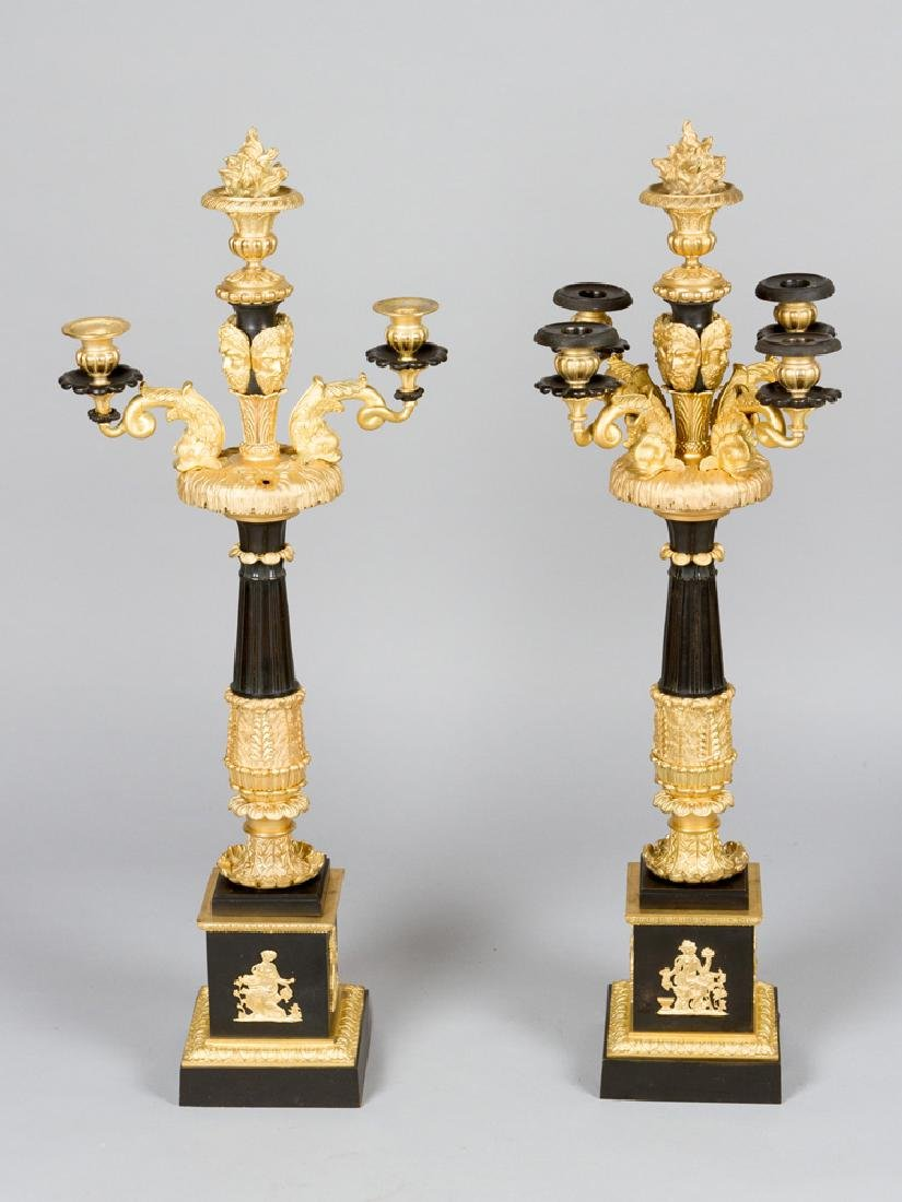 A Pair of French Empire Candelabras