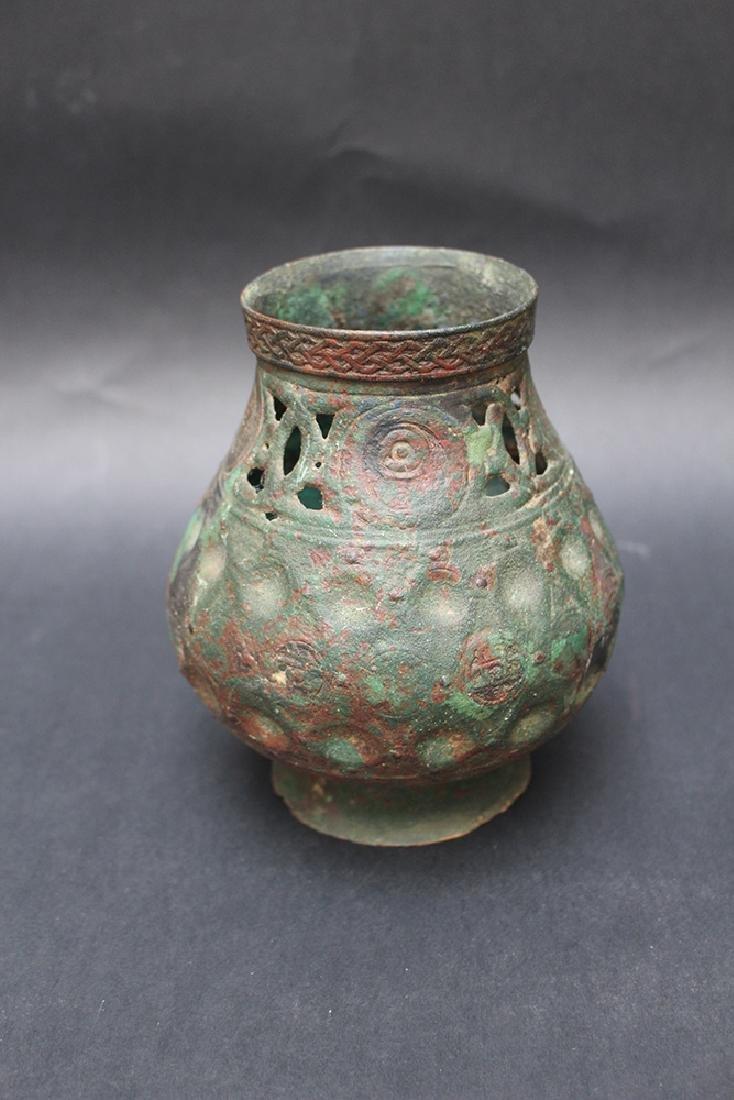 Byzantine or oriental bronze vessel