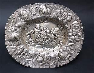 Augsburg silver salver
