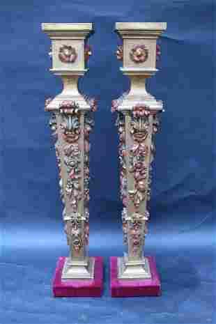 Pair of Wooden Columns