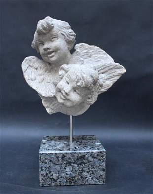 Two Baroque Angel Heads
