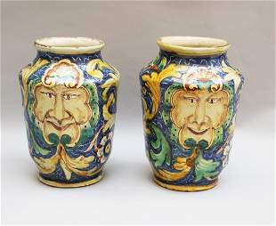 Pair of Sicilian Vases