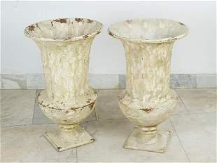 Pair of garden urn vases