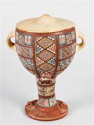 Peruvian ceramic bottle
