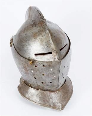Iron Helmet in medieval manner