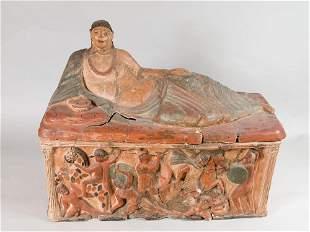 Sarcophagus in Etruscan manner
