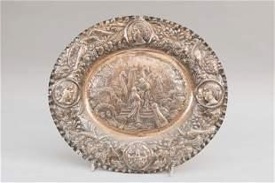 Large German silver plate
