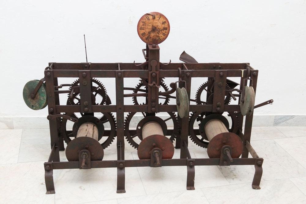 Church tower clock work