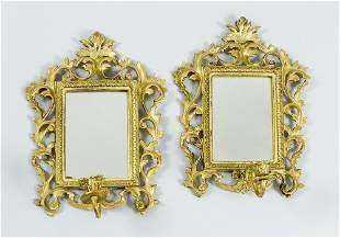 Pair of Florentine mirrors