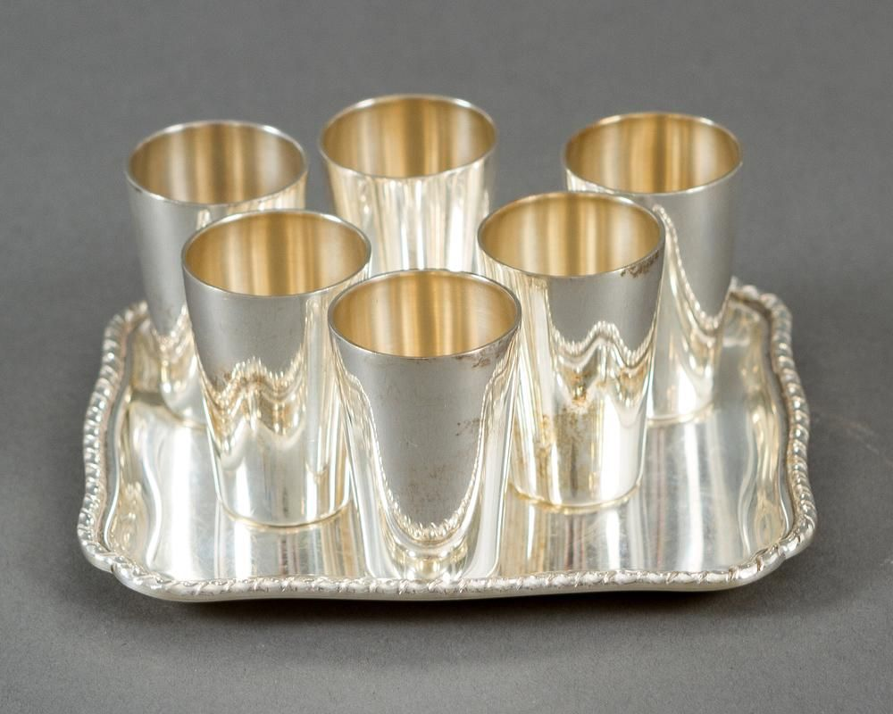Set of Silver Schnapps glasses