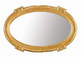 Oval hall mirror