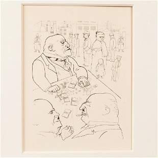 George Grosz (1893-1959)-graphic