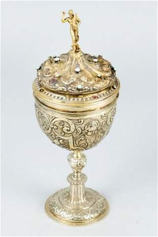A German Transylvanian silver goblet