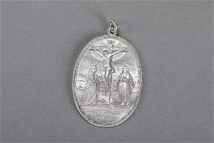 Silver medallion plaquette