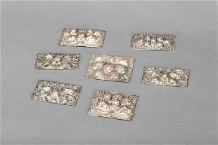 7 silver plaquettes
