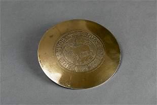 Silver vermeil plate