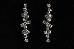 Pair of white gold earrings