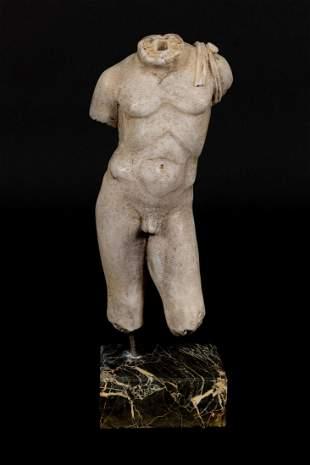 Male marble torso