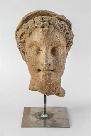 Hermes head in ancient manner
