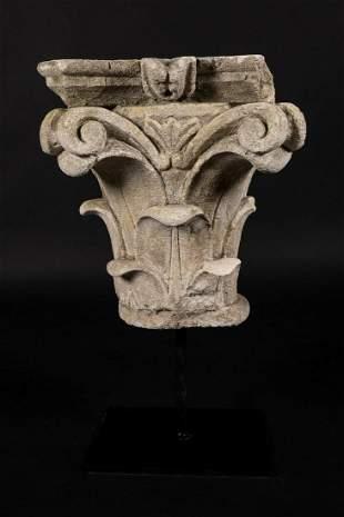 Classical stone capitel