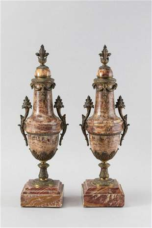 Pair of French salon stands
