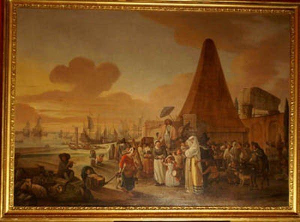 14: French/Flemish Artist , Port Scene with Travellers