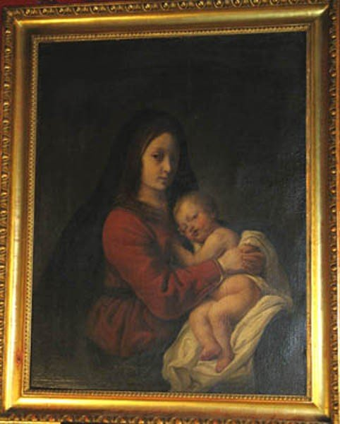 18: French School around 1700, Maria with Child, Oil on