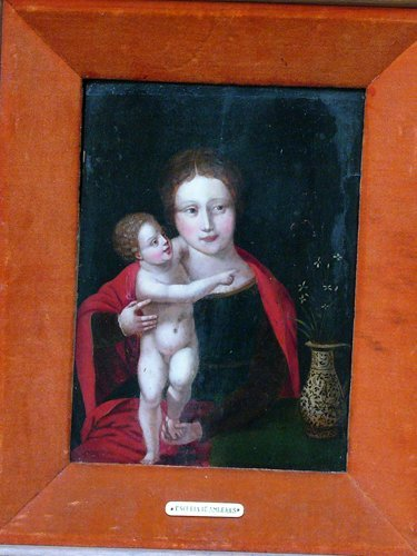 1:  School of Antwerp, Madonn with the Infant by a Vase