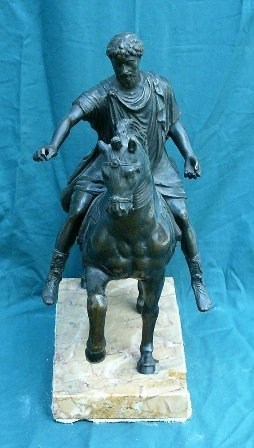 6:  Emperor Marc Aurel after the Antiquity, Bronce cast