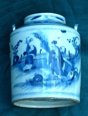 15:  Chinese Porcelain Teapot figural scene painted in
