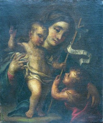 16:  Bolognese school around 1700, Mary  with the Infan