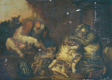 21: flemish Artist 17. century, Young Cats Playing with
