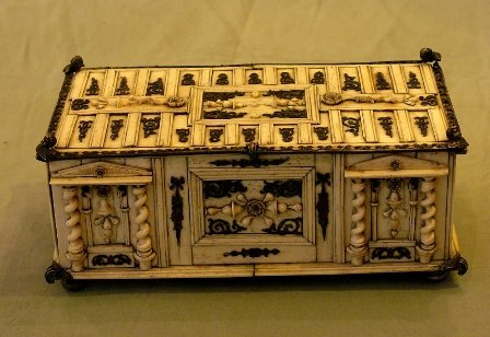 23: German Iovry Casket ,rectangular with Ivory veneer