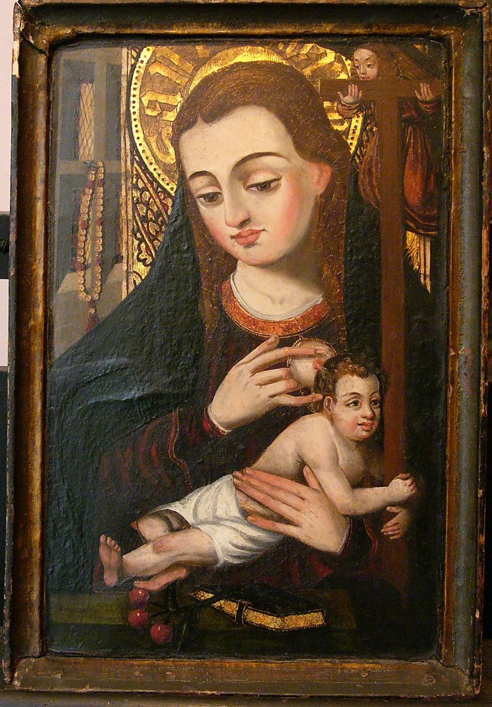 Spanish School 16th Century, Madonna with the Infant ho