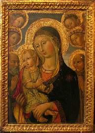 Sano di Pietro (1406-1481)-follower, Madonna with child
