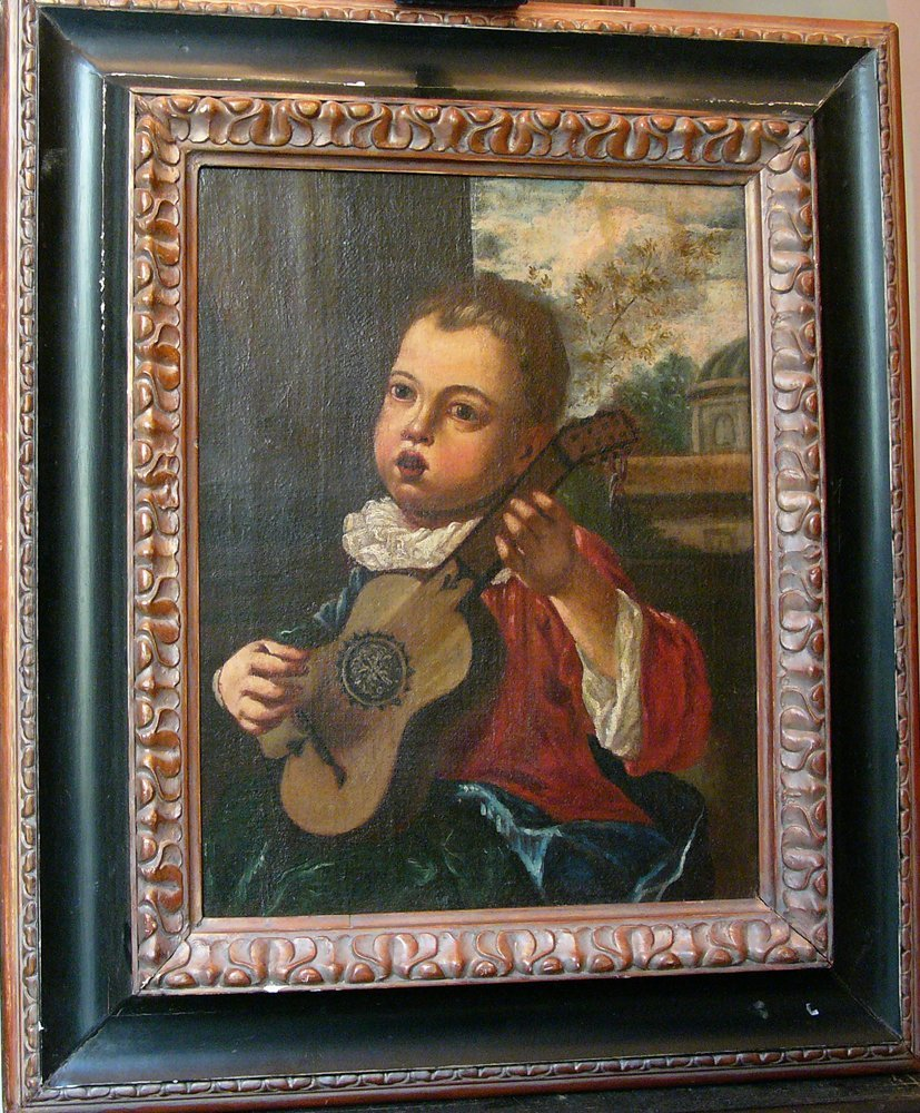 Mercurio Amorosi (1660-1738), Court page with a guitar