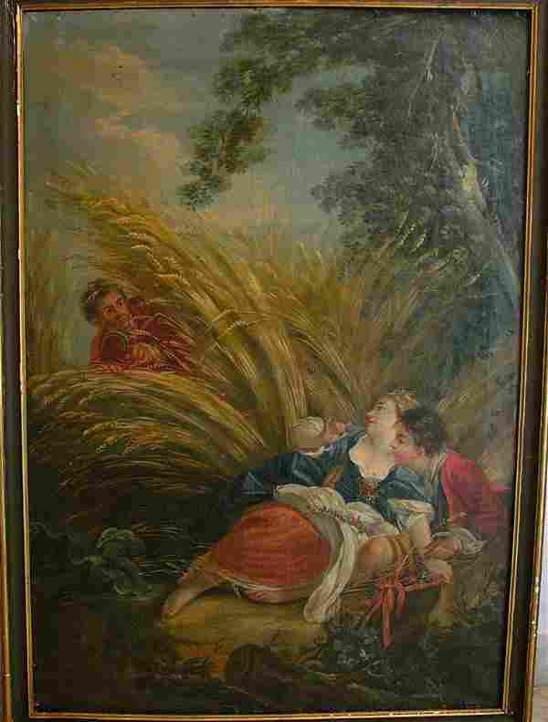 French school 18th Century, a pair of allegories of sum