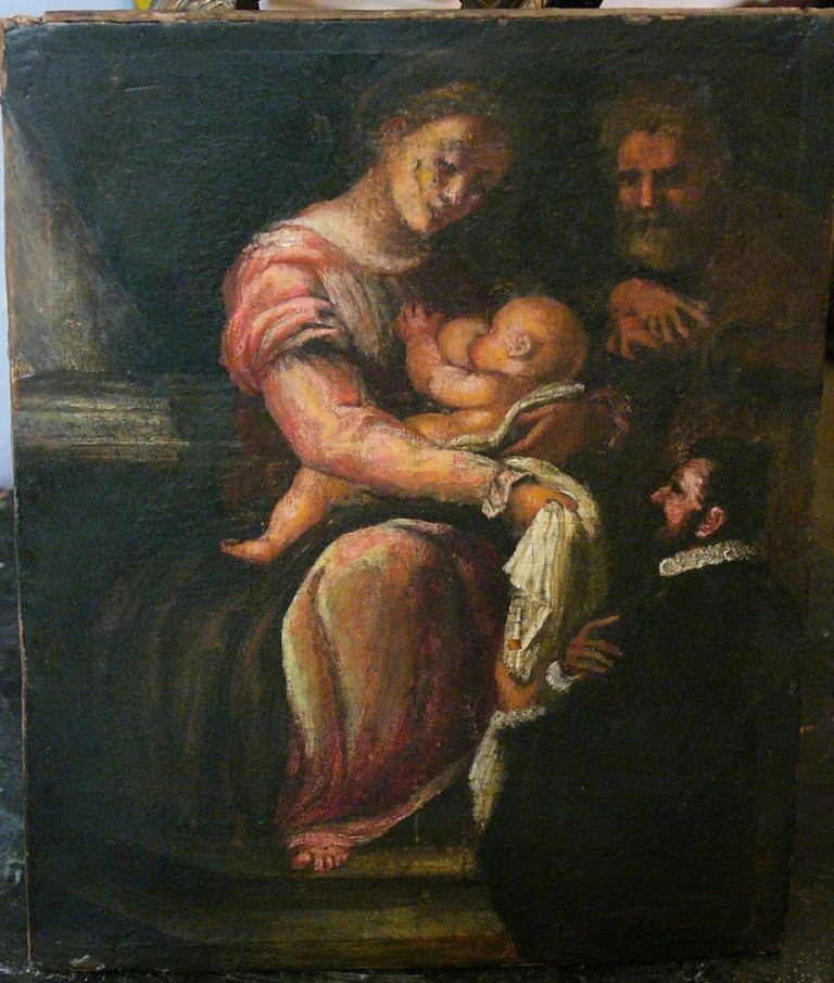 Tuscan School 16th Century, Madonna with the Infant,