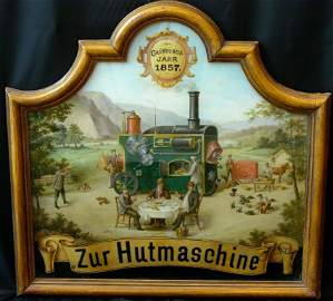 """Curiosity """"To the hat machine"""", old Styrian reverse"""