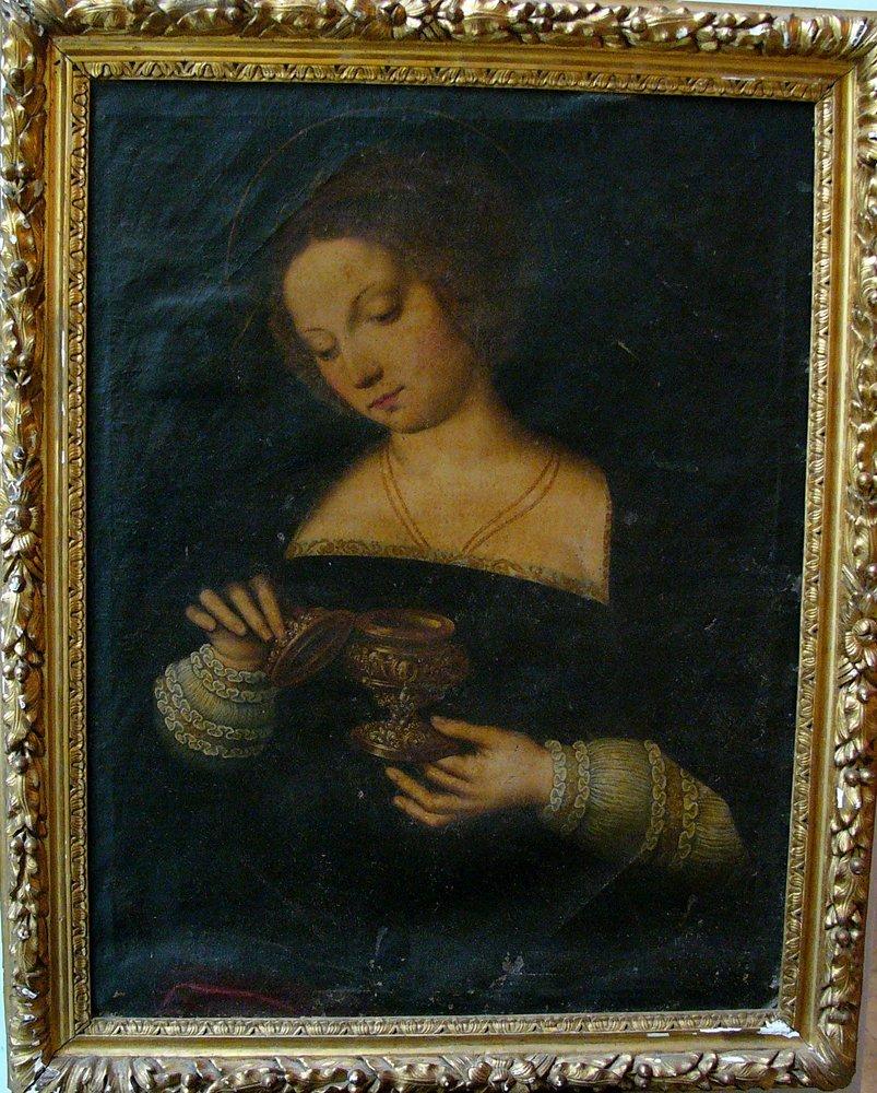 Michiel Coxie (1499-1592)-follower, Female Saint